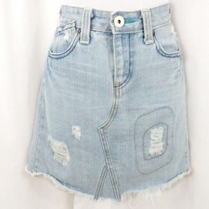 Levi's Vintage Distressed Patched Denim Mini Skirt